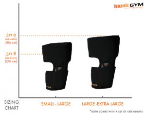 BionicGym Wrap Sizes